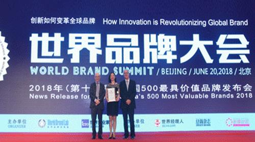 元洲装饰再度荣膺2018年中国500最具价值品牌