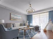 大户型清新美式风三居,品质生活的居家体验!